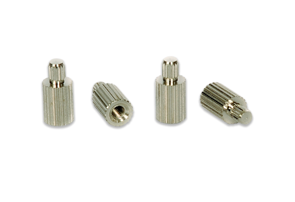 ECM00682-L-P, Standoff, solder mount, threaded, M2.5, 8.0mm board-to-board height, bag/100pcs